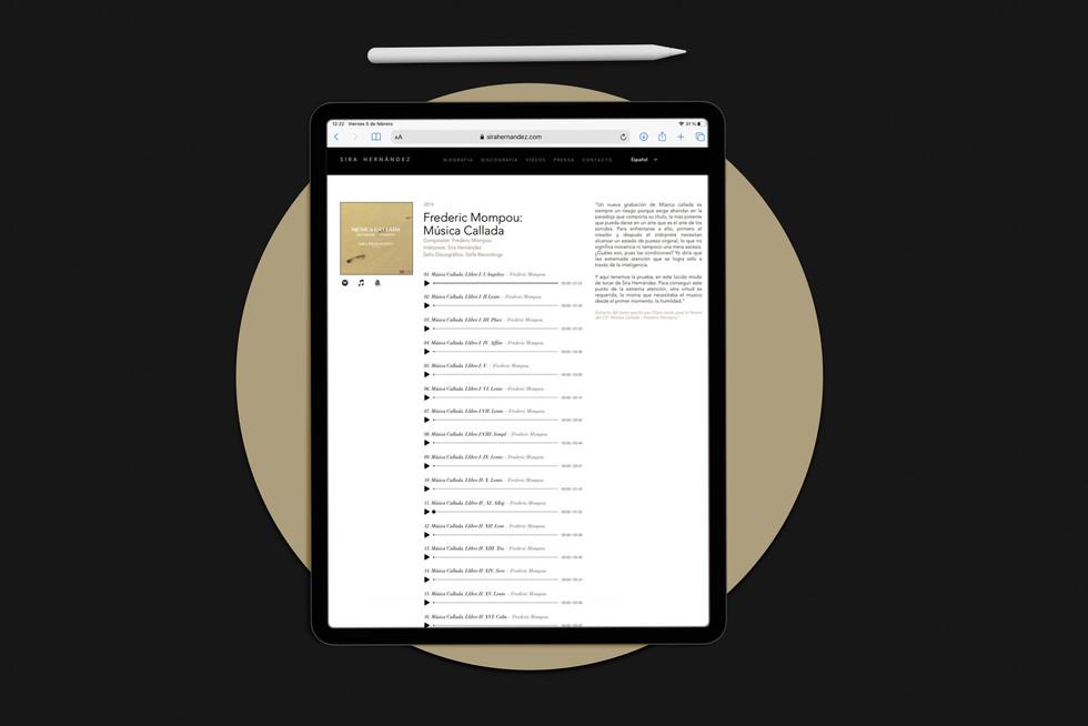 Diseño web Ipad Sira Hernández