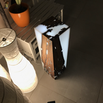 lampe epoxy/noyer