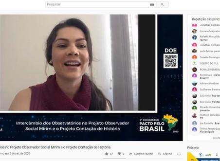 Observatório Social de Brusque compartilha cases em 4º Congresso Pacto pelo Brasil