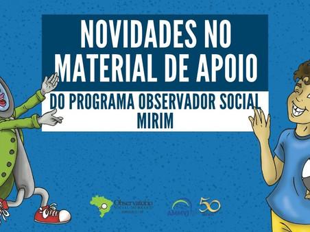 Programa Observador Social Mirim ganha nova revista