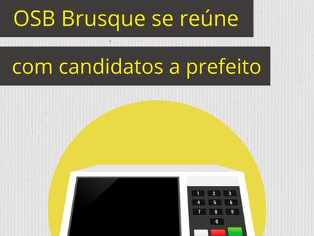 OSB Brusque se reúne com candidatos a prefeito de Brusque