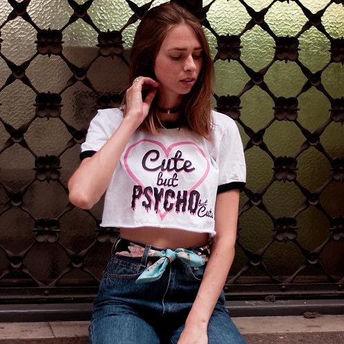 Cute but Psycho Croptop T-shirt