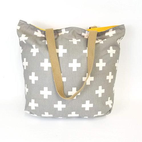 Swiss Cross Market Bag HAND MADE