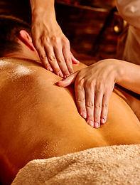 Man  having oil Ayurveda spa treatment.