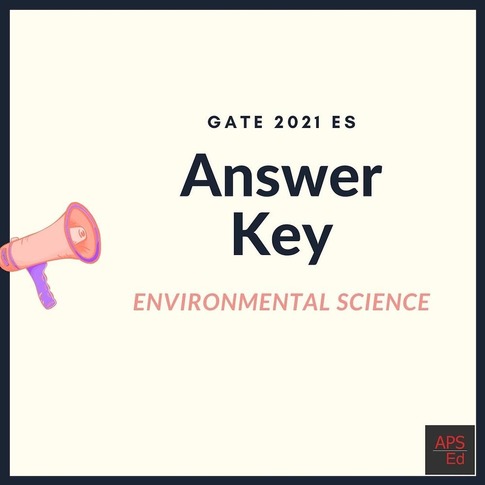 GATE 2021 Environmental Science Answer Key