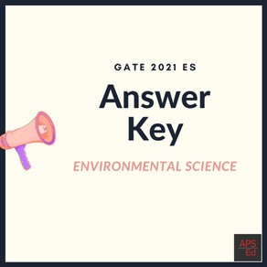 GATE 2021 Environmental Science and Engineering Question Paper and Official Answer Key