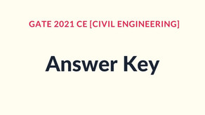 GATE 2021 Civil Engineering Answer Key [Forenoon & Afternoon Sessions]