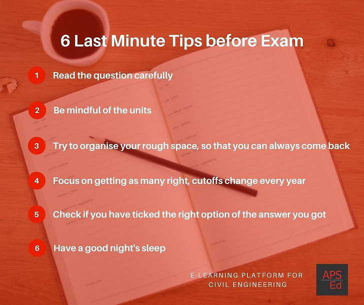 Last Minute exam preparaton tips for GATE/ESE