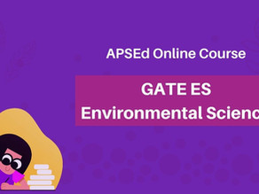 Online Course for GATE Environmental Science and Engineering (GATE ES)