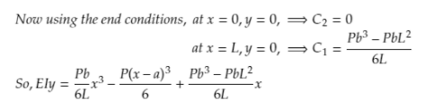Solve for integration constants using boundary conditions