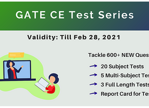 GATE Test Series for Civil Engineering | GATE CE 2021