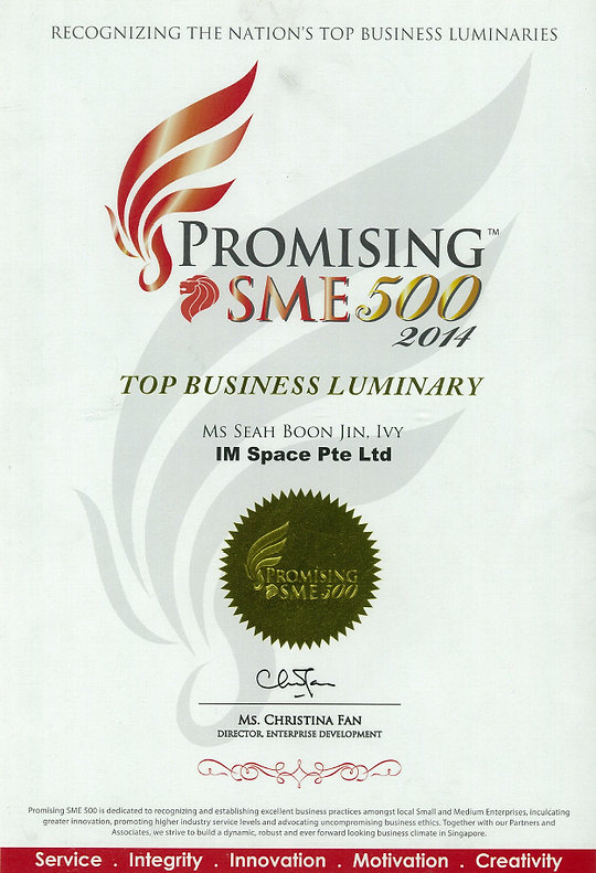 Promising SME 500 2014 award for IM Space