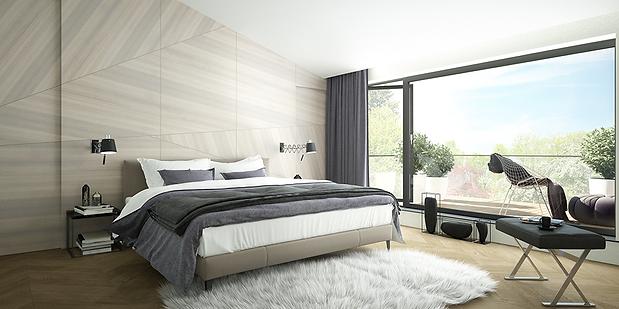 Smart bedroom interior