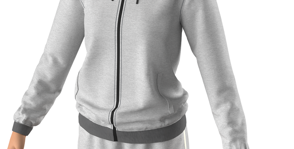 JACKET DETE HOODED (Gray)