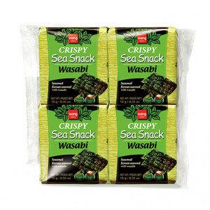 WANG Wasabi Seasoned Seaweed Snack 4x0.35 oz