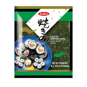 SUKINA Roasted Seaweed Sushi Nori 0.88 oz (10 sheets)