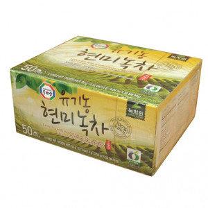 SURASANG Organic Green tea w/ Roasted Brown Rice 50 bags