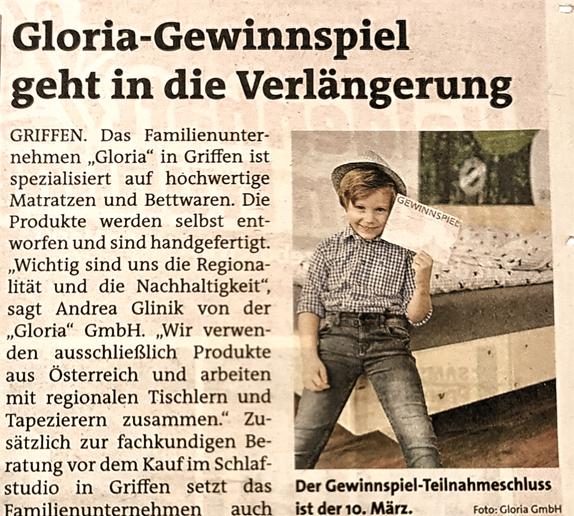 Gloria Gewinnspiel