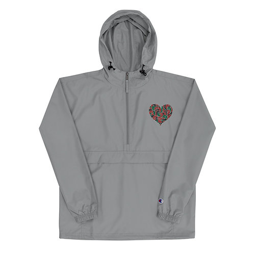 """BlkLove"" Embroidered Champion Packable Jacket"