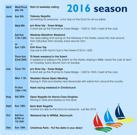 2016 Events Calender