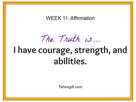 Week 11: Courage Affirmation