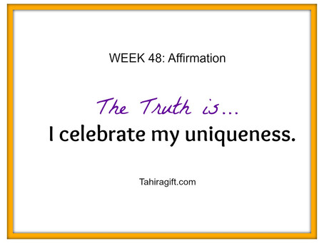 Week 48: Uniqueness Affirmation