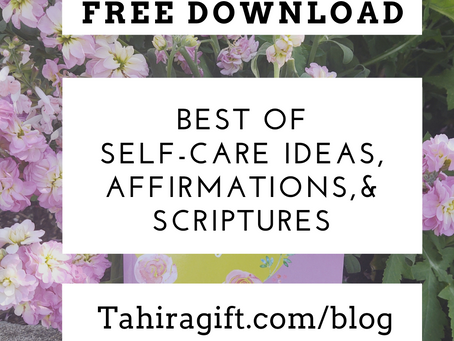 Free List of Self-Care Ideas, Affirmations, and Scriptures