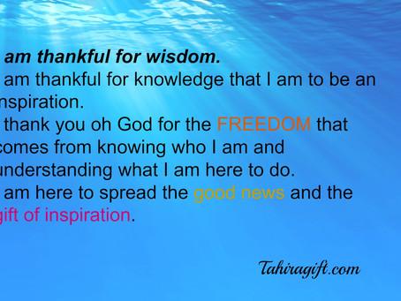 Inspiration is Wisdom!