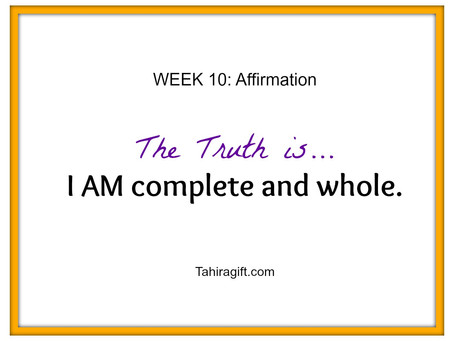 Week 10: Completeness Affirmation