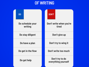 DO AND DON'T OF WRITING