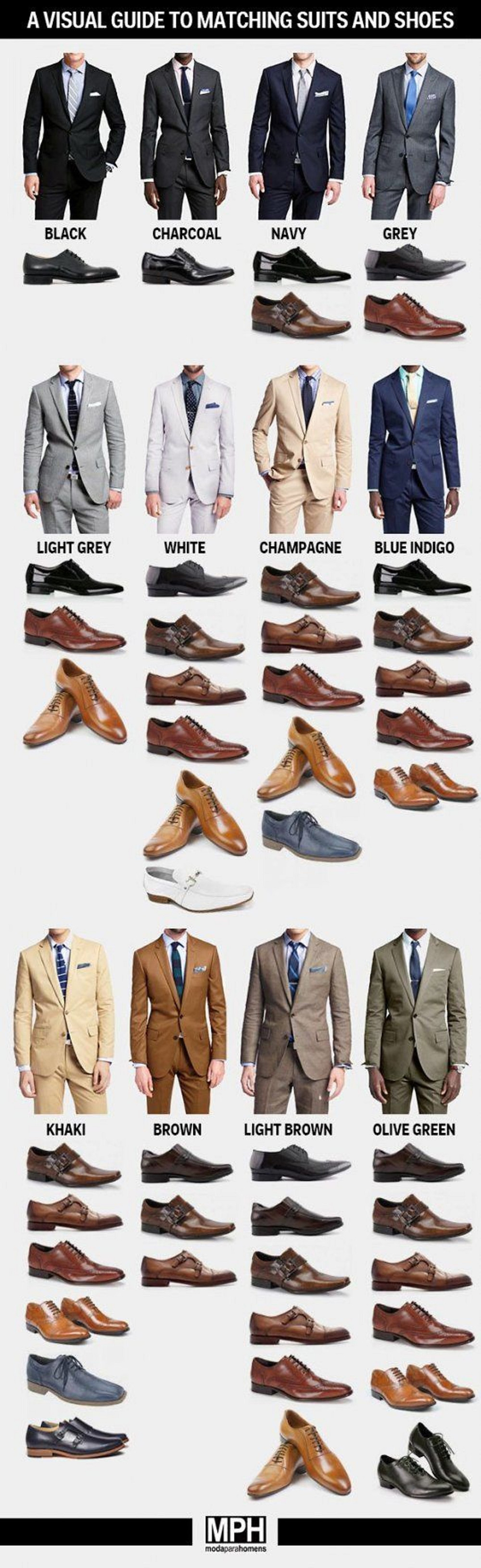 The Ultimate Guide to matching suits and shoes.