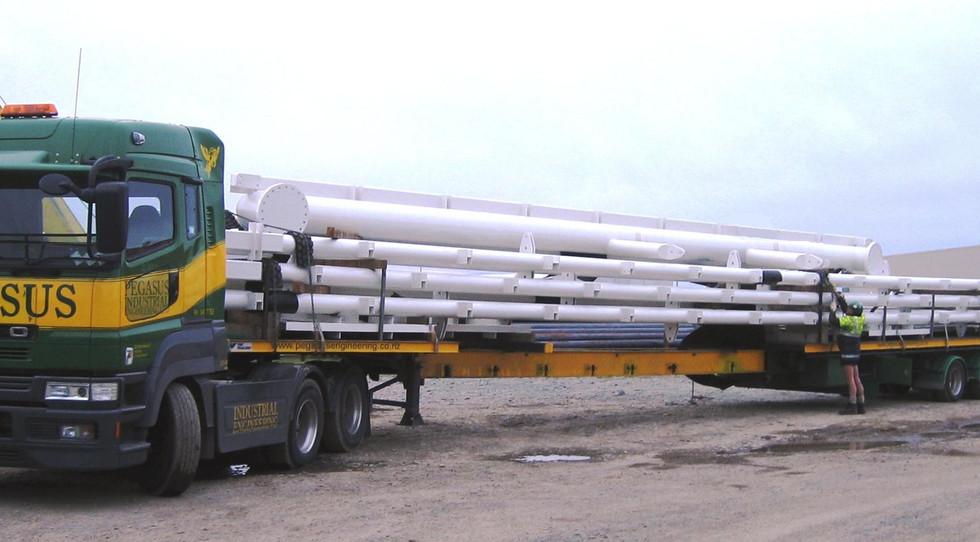 Dunedin Stadium steel on truck