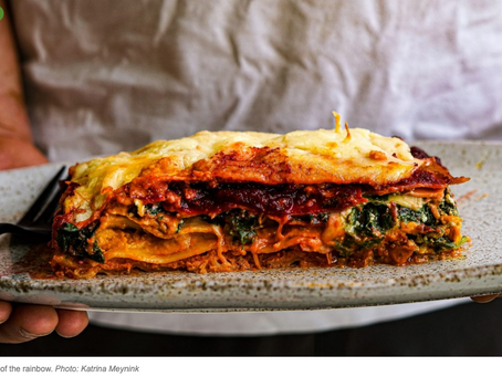 Winter veggies, layers of flavour in Katrina Meynink's Rainbow Vegetarian Lasagna