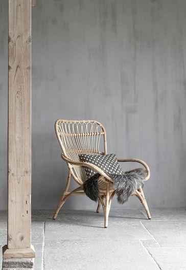 Fauteuil. Rotan fauteuil. Rotan stoel. Landelijke stoel.
