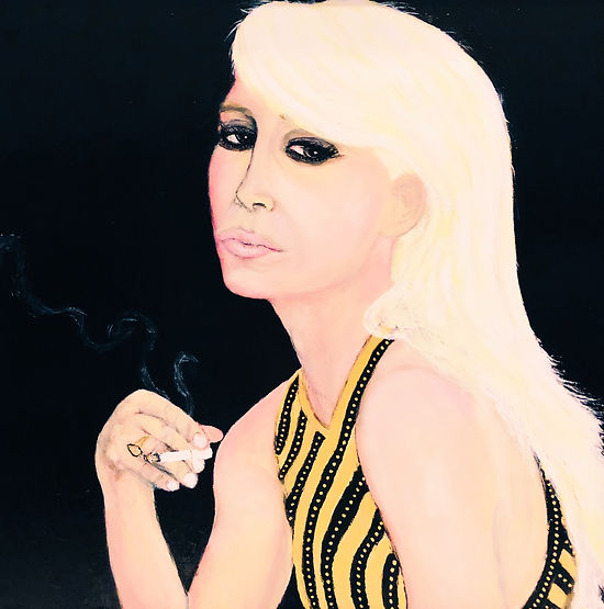 Donatella Versace by Matthew Montero. The ICONS Museum