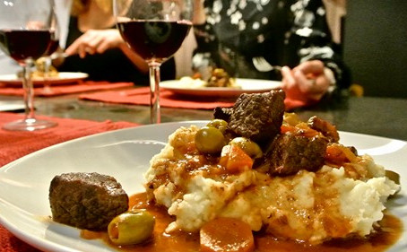 Le boeuf aux olives, un bon plat d'hiver !