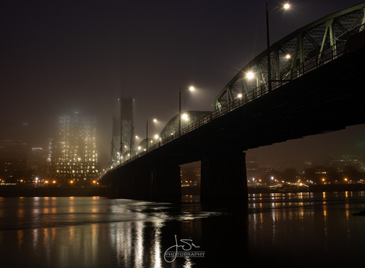 The fog is so much better at night...