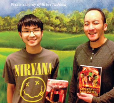 Brian Tashima and son Torin.