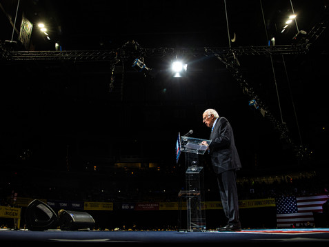 Sen. Bernie Sanders, I-VT., speaks during the 2019 Liberty and Justice Celebration at the Wells Fargo Arena in Des Moines on Friday, November 1, 2019.