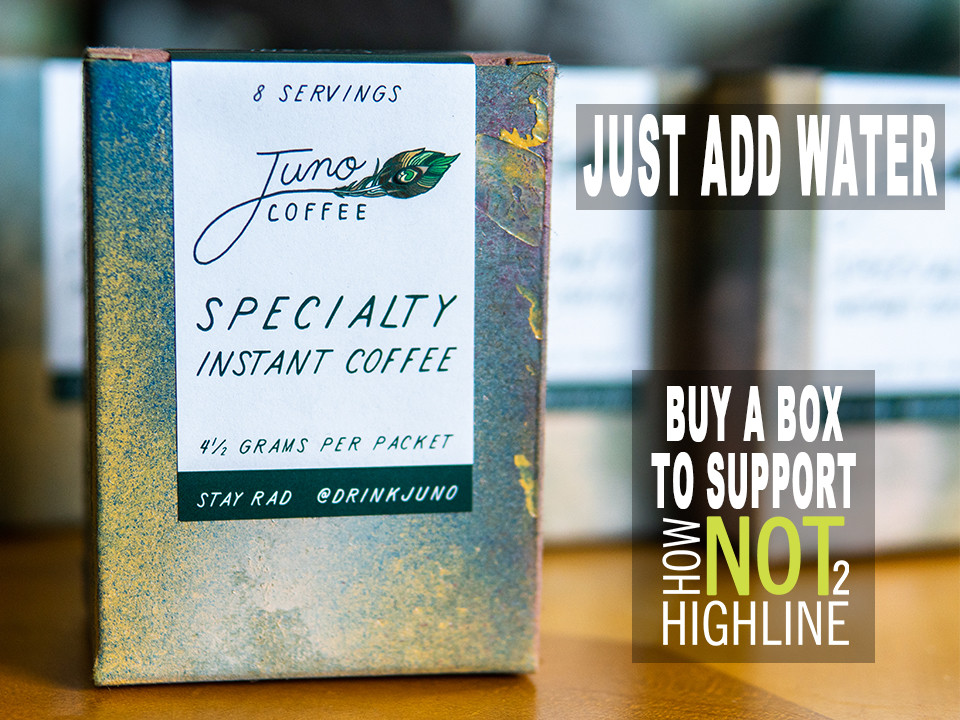 Buy Juno Premium Specialty Instant Coffee and support HowNOTtoHighline