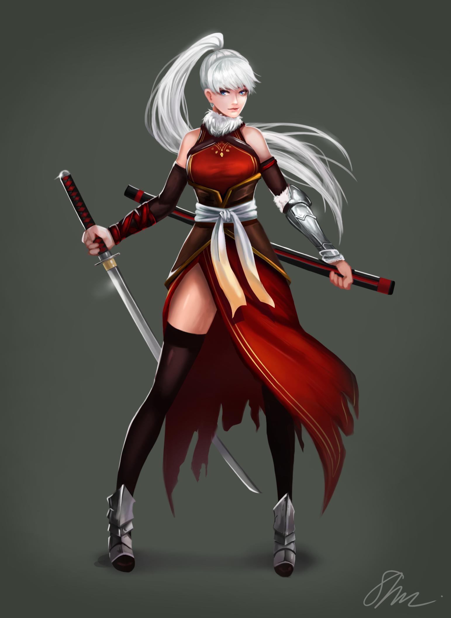 Red Swordswoman