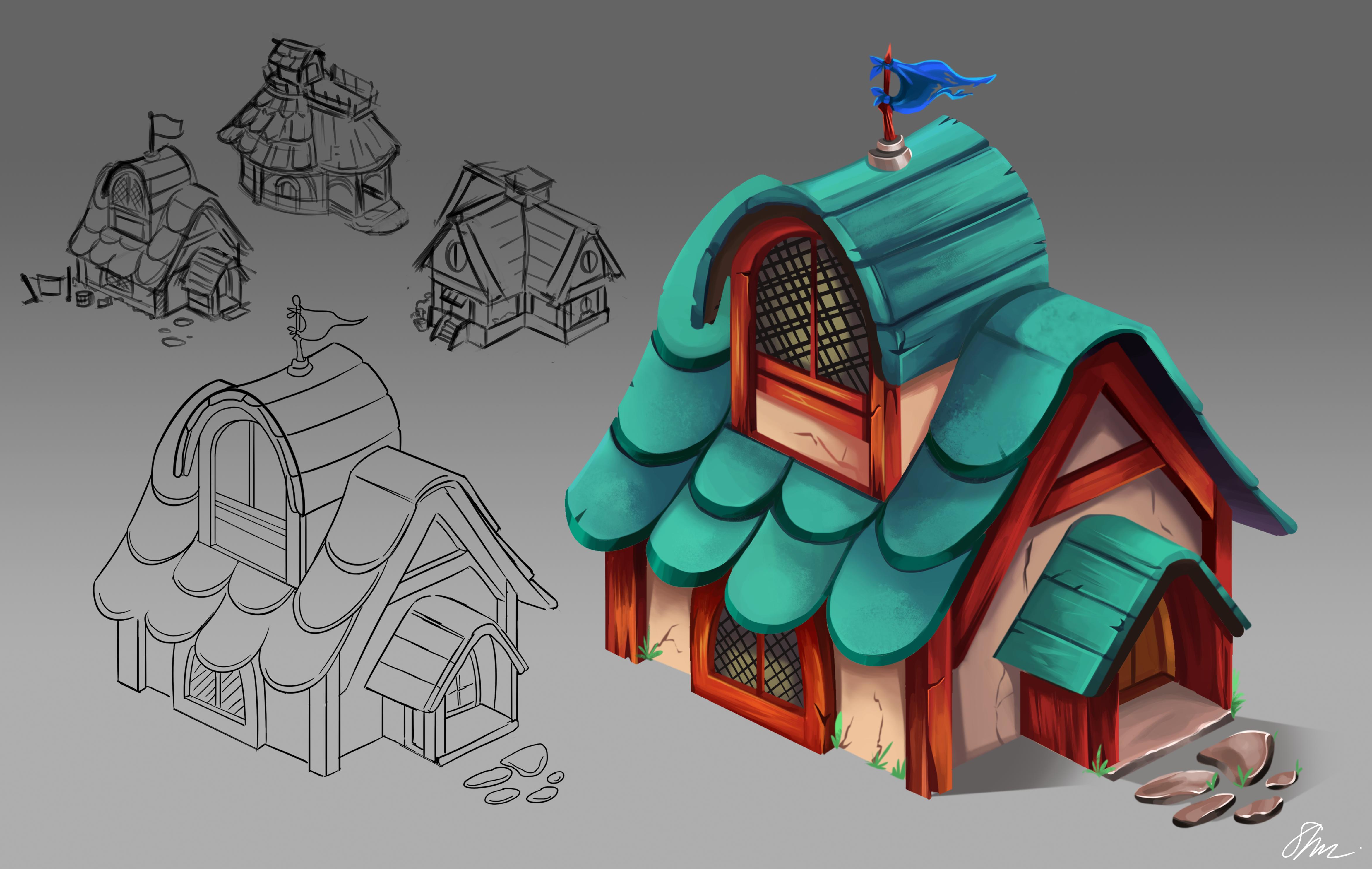 Cottage Building Concept Art