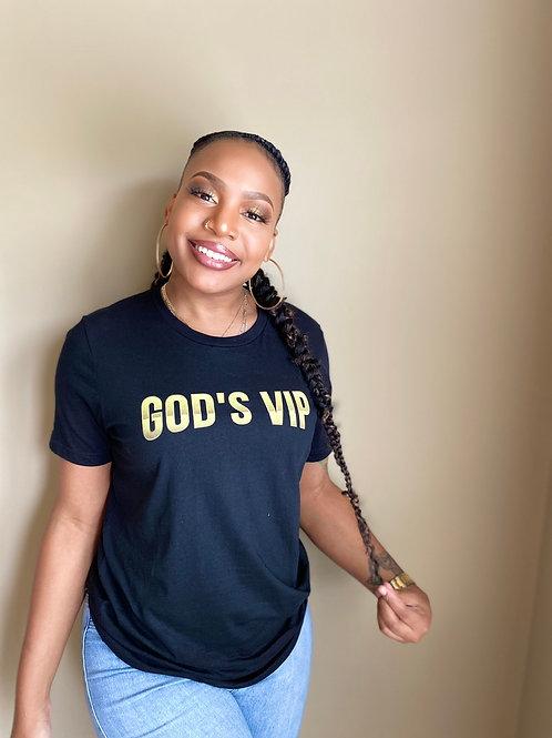 GodsVIP t-shirt ( Black)
