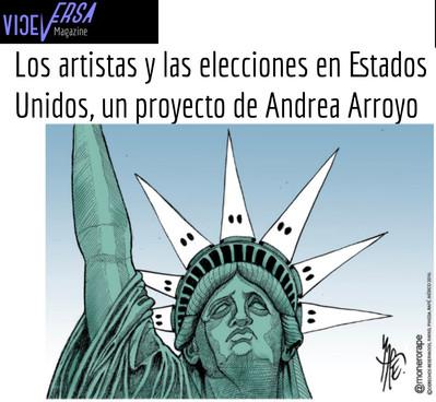 Unnatural Election: Los artistas y las elecciones en Estados Unidos, un proyecto de Andrea Arroyo