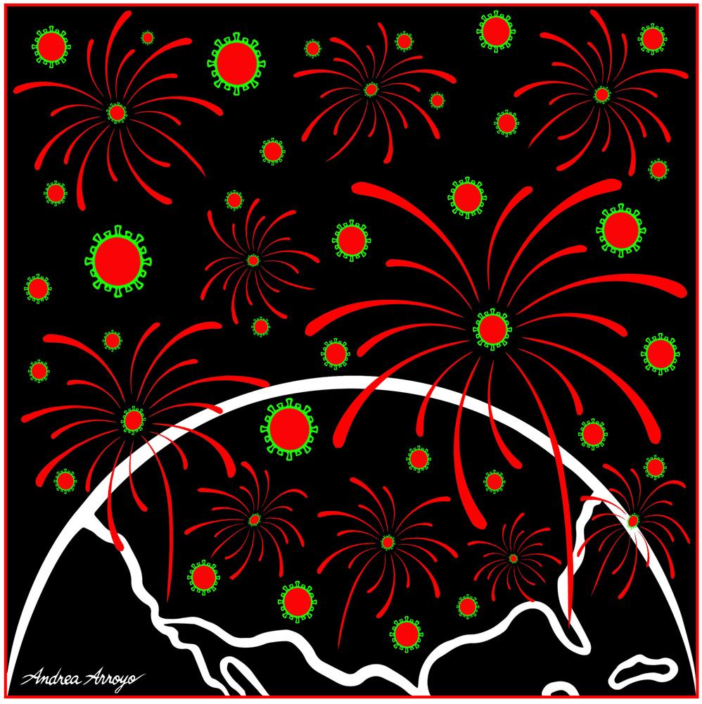 Covid Fireworks