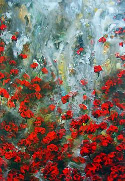 Red Wet Garden