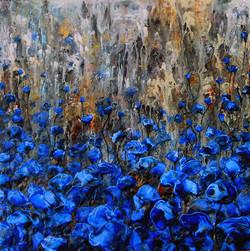 Wild blue garden