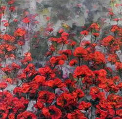 Rojo-Floral-I