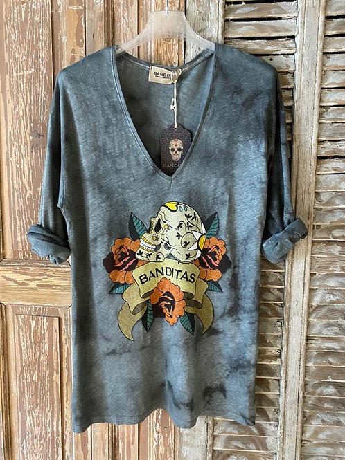 T-shirt skull Banditas