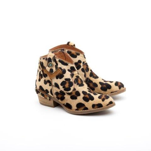 Boots Léopard Cuir